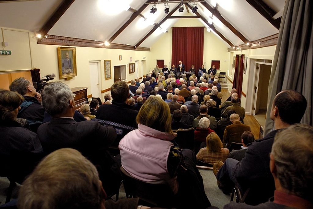 Meeting in large hall
